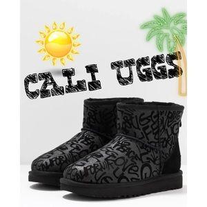 UGG classic mini sparkle graffiti boots